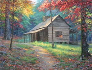 "Mark Keathley Hand Signed and Numbered Limited Edition Embellished Canvas Giclee:""Light From the Past """