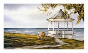 "Trisha Romance Limited Edition Grand Romance Canvas:""Shoreline Picnic"""