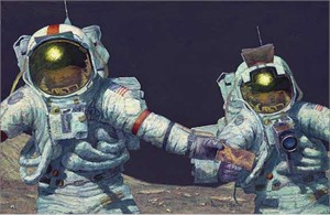 "Alan Bean Astronaut Signed Limited Edition Giclee Print:""Our Own Personal Spaceships"""