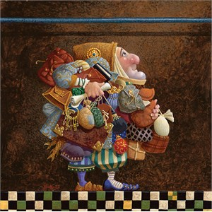 """James Christensen Hand Signed and Numbered Limited Edition Canvas Giclee:""""The Holy Grail Travels to Britain"""""""