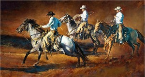 "Chris Owen Hand Signed and Numbered Limited Edition Giclee:""Riding for the Brand"""