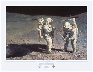"Alan Bean Hand Signed Limited Edition Artist Proof Print:""Moonrock-Earthbound"""