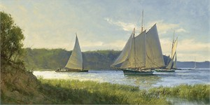 """Don Demers Hand signed and Numbered Limited Edition Giclee on Canvas:""""Working the River"""""""