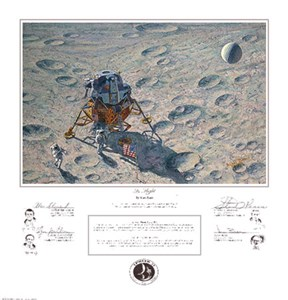 "Alan Bean Astronaut Signed Limited Edition Artist Proof Canvas Giclee:""Apollo 12 is Headed Home"""