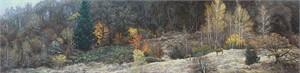 """Stephen Lyman Oversized Open Edition Anniversary Canvas Giclee:""""Autumn Gathering"""""""