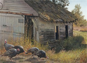 """Carl Brenders Artist Signed Limited Edition Canvas Giclee:""""No Trespassing"""""""
