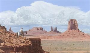 "John Bye Open Edition Fine Art Canvas Giclee:""Navajo Skyline"""
