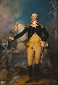 "John Trumbull Open Edition Fine Art Giclèe Canvas:""General George Washington at Trenton"""