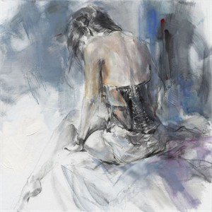 """Anna Razumovskaya Hand Signed and Numbered Limited Editiion Embellsihed Canvas Giclee:""""The Time Between"""""""
