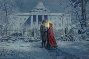 "Mort Künstler Hand Signed and Numbered Limited Edition 2013 Official Snow Print:""Capitol Farewell"""