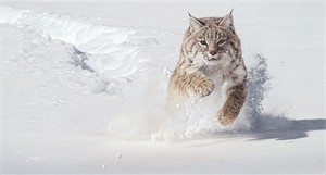 """Daniel Smith Artist Hand-Signed Limited Edition Giclee Canvas:""""Snow Blower"""""""
