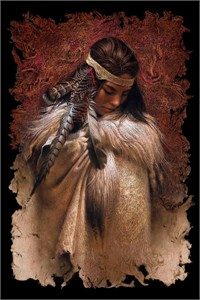 """Lee Bogle Hand Signed and Numbered Limited Edition Canvas Giclee:""""Winter Maiden"""""""