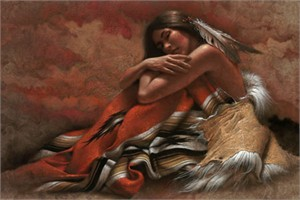 "Lee Bogle Hand Signed and Numbered Limited Edition Canvas Giclee:""At Rest"""