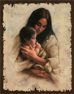 """Lee Bogle Hand Signed and Numbered Limited Edition Canvas Giclee:""""Sacred Gift"""""""