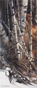 "Lee Bogle Hand Signed and Numbered Limited Edition Canvas Giclee:""Quiet Refuge II"""