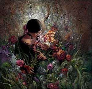 """Lee Bogle Hand Signed and Numbered Limited Edition Canvas Giclee:""""The Rose Garden"""""""