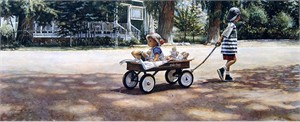 "Steve Hanks Limited Edition Anniversary Fine Art Giclée Canvas :""The Journey is the Goal """