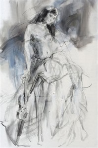"""Anna Razumovskaya Hand Signed and Numbered Limited Editiion Embellsihed Canvas Giclee:""""Tune of Passion 1"""""""