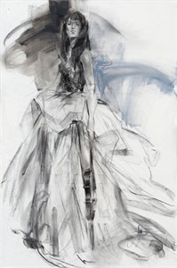 """Anna Razumovskaya Hand Signed and Numbered Limited Editiion Embellsihed Canvas Giclee:""""Tune of Passion 2"""""""