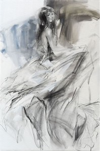 "Anna Razumovskaya Hand Signed and Numbered Limited Editiion Embellsihed Canvas Giclee:""Tune of Passion 3 """
