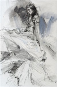 "Anna Razumovskaya Hand Signed and Numbered Limited Editiion Embellsihed Canvas Giclee:""Tune of Passion 4 """