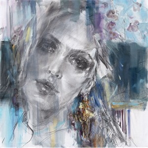 "Anna Razumovskaya Hand Signed and Numbered Limited Editiion Embellsihed Canvas Giclee:""Someone Like You"""