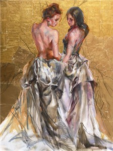 "Anna Razumovskaya Hand Signed and Numbered Limited Editiion Embellsihed Canvas Giclee:""Out of My Dreams 1"""