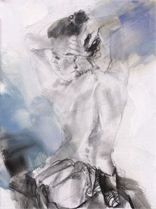 "Anna Razumovskaya Hand Signed and Numbered Limited Editiion Embellsihed Canvas Giclee:""Morning Angel 2"""