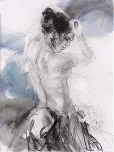"Anna Razumovskaya Hand Signed and Numbered Limited Editiion Embellsihed Canvas Giclee:""Morning Angel 3 """