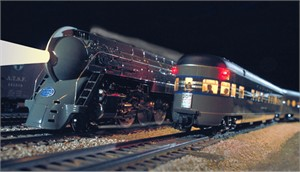 "Gerald Brimacombe Handsigned and Numbered Limited Edition Giclee on Paper:""20th Century Ltd. O scale model"""