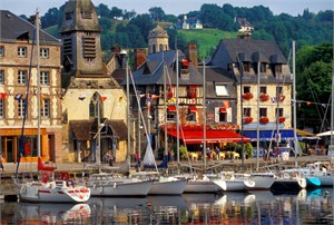 "Gerald Brimacombe Handsigned and Numbered Limited Edition Giclee on Paper:""Normandy - Honfleur Harbor Morning"""