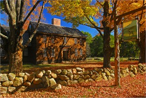 "Gerald Brimacombe Handsigned and Numbered Limited Edition Giclee on Paper:""Concord - Hartwell Tavern w sign"""