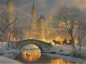 "Mark Keathley Hand-signed and Numbered Limited Edition Embellished Canvas Giclee :""Carriage Park """