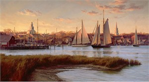 "Don Demers Hand signed and Numbered Limited Edition Giclee on Canvas:""Nantucket Twilight"""