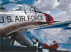 "William Phillips Hand Signed and Numbered Limited Edition Canvas Giclee :""Air Force Reflections"""