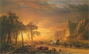 """Albert Bierstadt Limited Edition Artist Proof Museum Masters Canvas Giclee:""""Emigrant's Crossing the Plains"""""""