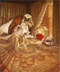 """Scott Gustafson Hand-signed and Numbered Limited Edition Anniversary Canvas Giclee:""""Little Red Riding Hood"""""""