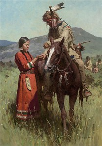 """Z.S. Liang Artist Hand-Signed Limited Edition Giclee Canvas:""""Sharing the Harvest"""""""