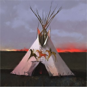 "R. Tom Gilleon Hand Signed and Numbered Limited Edition Gallery Wrap Canvas Giclee:""Three Dog Soldiers"""