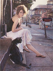 "Steve Hanks Limited Edition Canvas Giclee:""Companions of The Big Easy"""