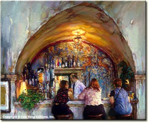 "Cao Yong Limited Edition Hand Embellished (H/E) Archival Print on Canvas :""La Colombe d'Or"""