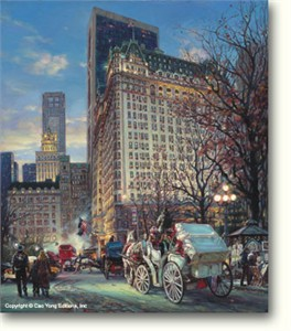 """Cao Yong Limited Edition Hand Embellished (H/E) Archival Print on Canvas :""""The Heartbeat of New York"""""""