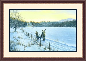 "Framed Art:""Holiday Goose Limited Edition By Paco Young"""