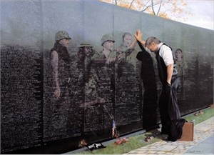"Lee Teter Framed Art Print:"" Vietnam Reflections"""