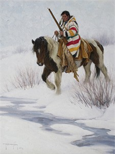 "Robert Duncan Hand Signed and Numbered Limited Edition Canvas Giclee:""The Traveler"""