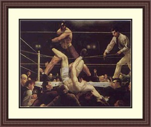 "George Wesley Bellows Framed Art Print:""Dempsey And Firpo """