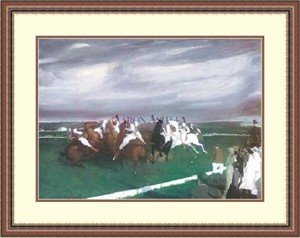 "George Wesley Bellows Framed Art Print:""Polo At Lakewood """
