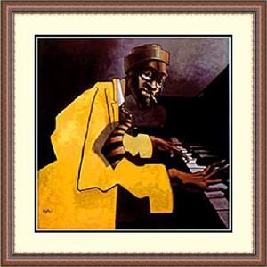 "Justin Bua Framed Art Print:""Piano Man """