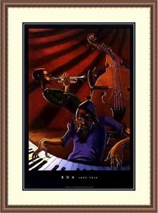 "Justin Bua Framed Art Print:""Jazz Trio """