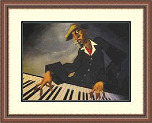 "Justin Bua Framed Art Print:""Piano Man 2  """